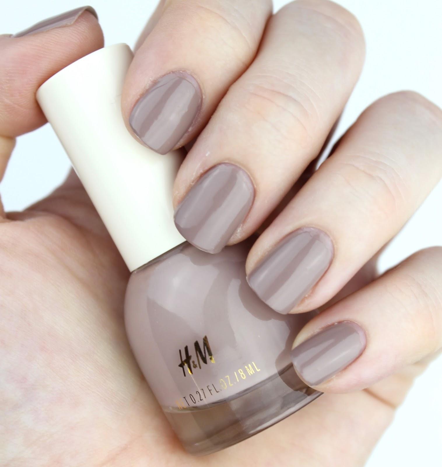 Greige Nail Polish: H&M Nail Polishes