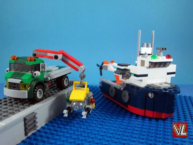 Combinação dos sets LEGO Creator 31043+31045