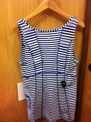 lululemon stay on course tank in pigment blue and white stripe