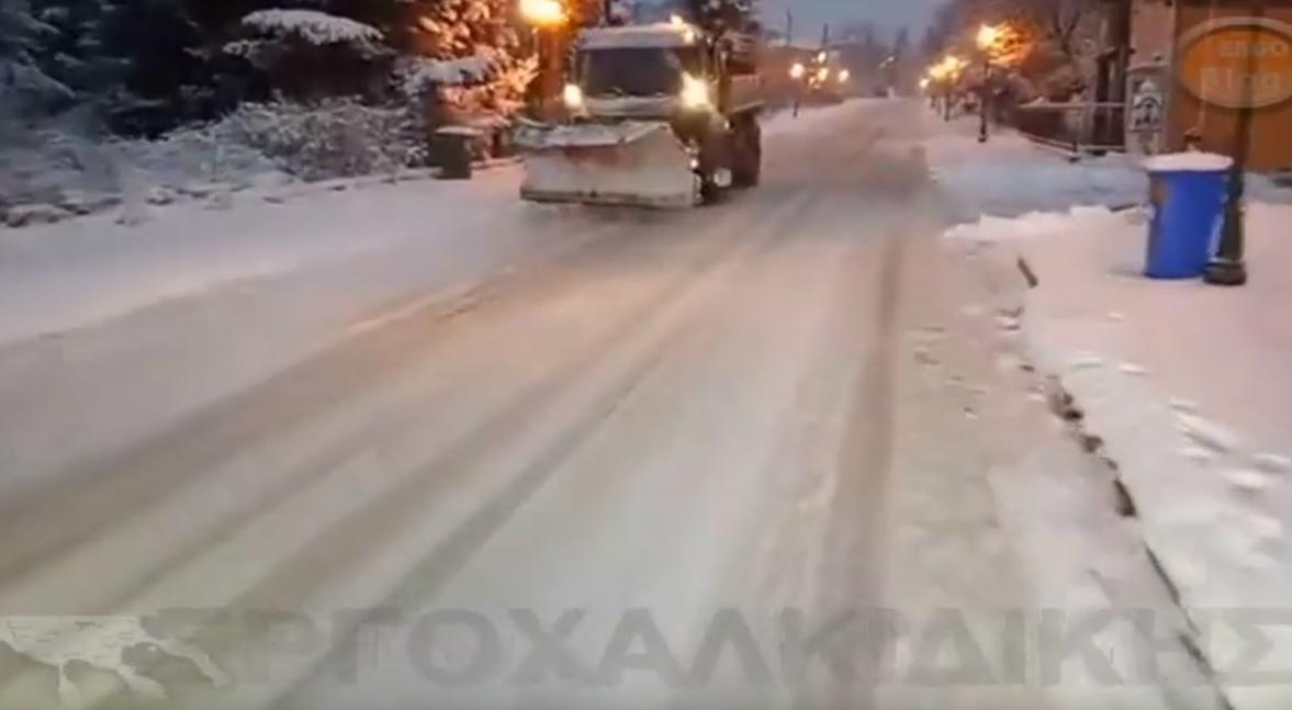 Ετσι ειναι το οδικό δίκτυο στην Χαλκιδική - Χωρίς αλάτι οι αλατιέρες  (βίντεο)