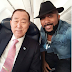 Check out Banky W selfie with Ban Ki-moon after chance meeting on plane