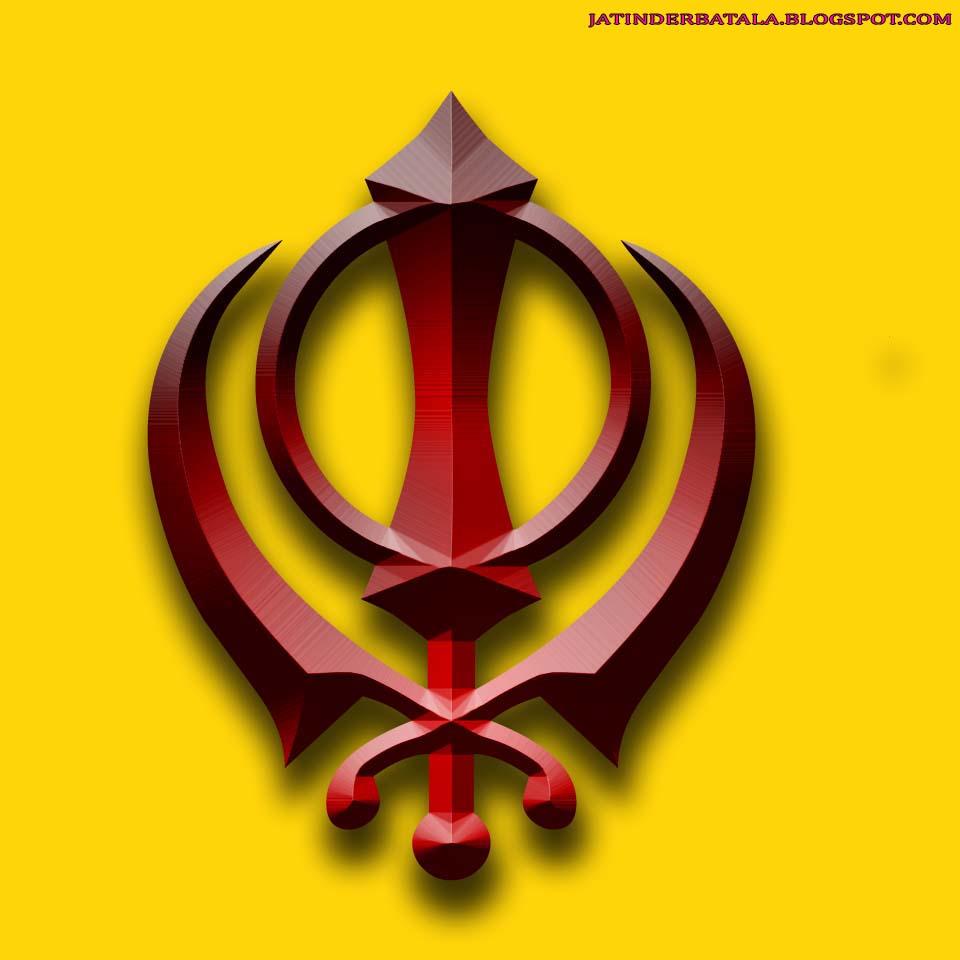 Punjabi Graphics and Punjabi Photos : 3D KHANDA WALLPAPER HD