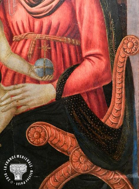 PONT-SAINT-ESPRIT (30) - Musée d'Art Sacré du Gard : Vierge à l'Enfant et l'archange Barachiel (1460-1480)
