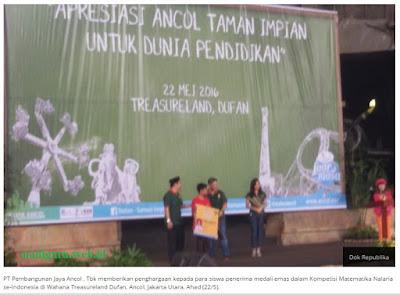 Inspiratif: Siswa Berprestasi Mendapatkan Apresiasi dari Ancol