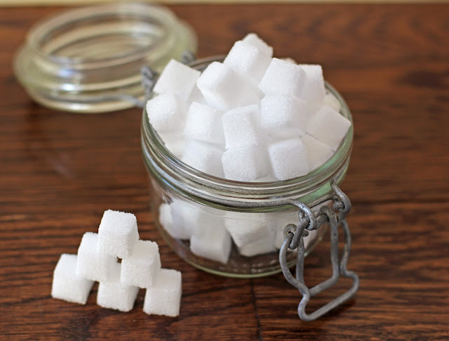 These Healthy Homemade Sugar Cubes taste just like the storebought ones except this recipe is low calorie, low carb, sugar free, fat free, gluten free and vegan! -- Healthy Dessert Recipes at the Desserts With Benefits Blog