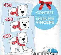 Logo Slumbersac: vinci gratis buoni spesa da 50€