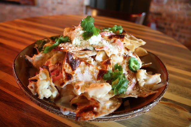 The addictive Cauliflower Nachos at Punch Bowl Social
