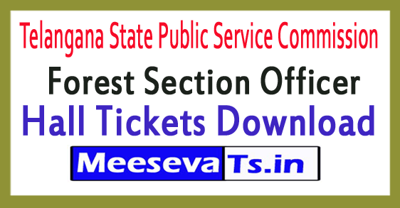 Telangana State Public Service Commission TSPSC FSO Hall Tickets Download 2017