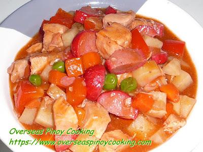Chicken  Menudo Dish