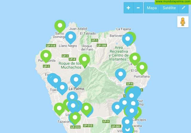 La Palma Renovable publica un mapa interactivo de organizaciones palmeras que apuestan por la transición energética