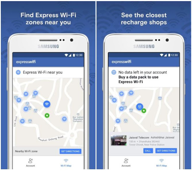 "Download another latest Facebook app from the store ""Epress Wi-Fi"""