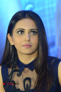 Actress Rakul Preet Singh Stills in Beautiful Blue Long Dress at Dhruva Salute to Audience Event  0052.JPG
