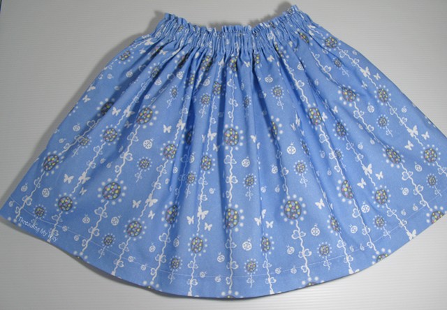 Make a Simple Gathered Skirt ~ Threading My Way