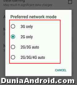 Mode jaringan 2G 3G 4G di HTC One M8
