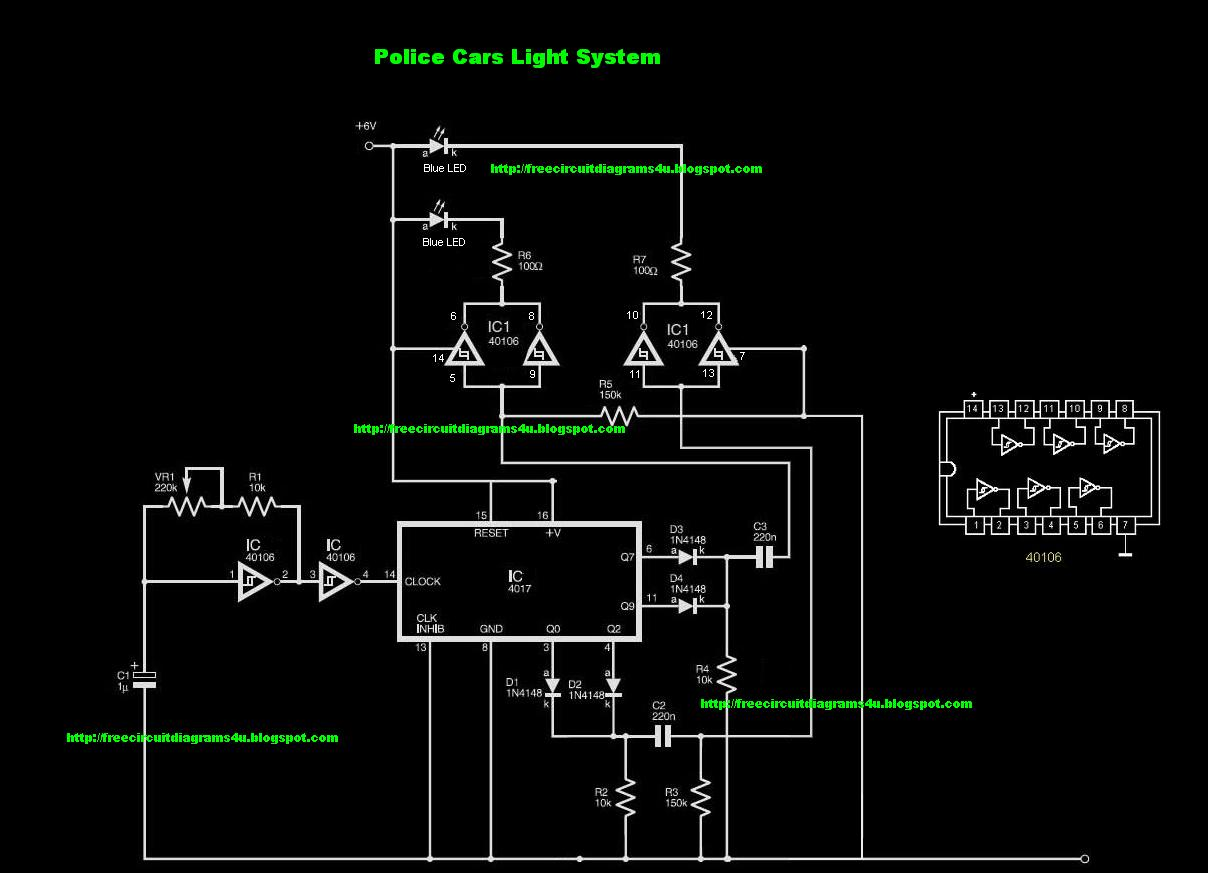 small resolution of free circuit diagrams 4u police car light system