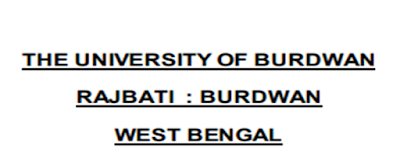 University Of Burdwan Job Vacancy