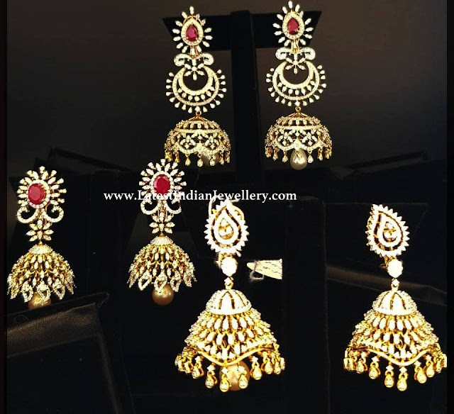 3 Different Jhumka Designs