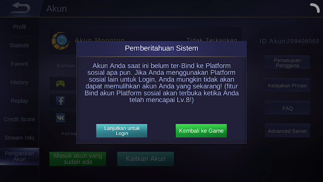 Update Terbaru Mobile Legends Bisa Switch Akun Tanpa Harus Level 8