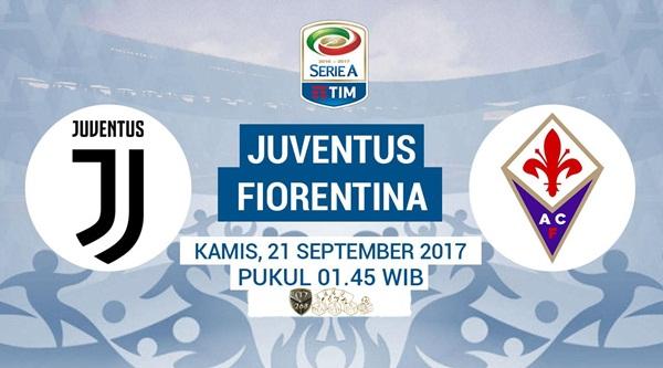 Prediksi Bola : Juventus Vs Fiorentina , Kamis 21 September 2017 Pukul 01.45 WIB