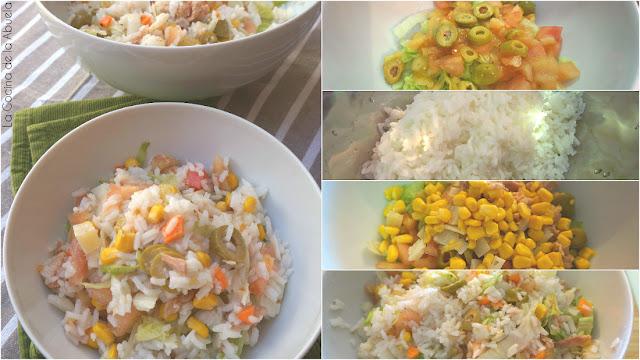Ensalada arroz Receta pasos