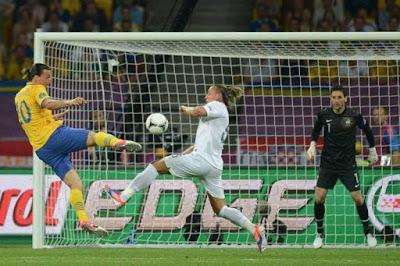Vilket fantastiskt mål! Zlatans 1-0 mot Frankrike i EM 2012