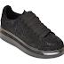 Pantofi sport de dama moderni cu talpa groasa negri din piele ecologica