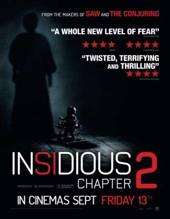 Poster Of Insidious Chapter 2 2013 Dual Audio 450MB BRRip 720p ESubs HEVC Free Download Watch Online downloadhub.net