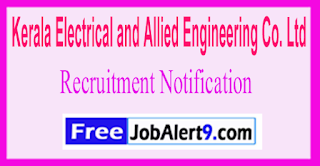 KEL Kerala Electrical and Allied Engineering Co. Ltd Recruitment Notification 2017 Last Date 10-06-2017