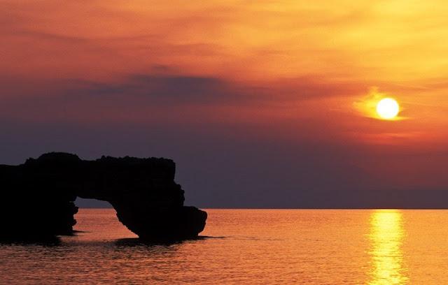 Pôr-do-sol em Creta, Grécia