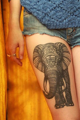 elephant tattoo idea
