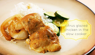 Slow Cooker Citrus Glazed Chicken -- this tastes just like Lemon Chicken from a Chinese Restaurant. My kids all ate it!!