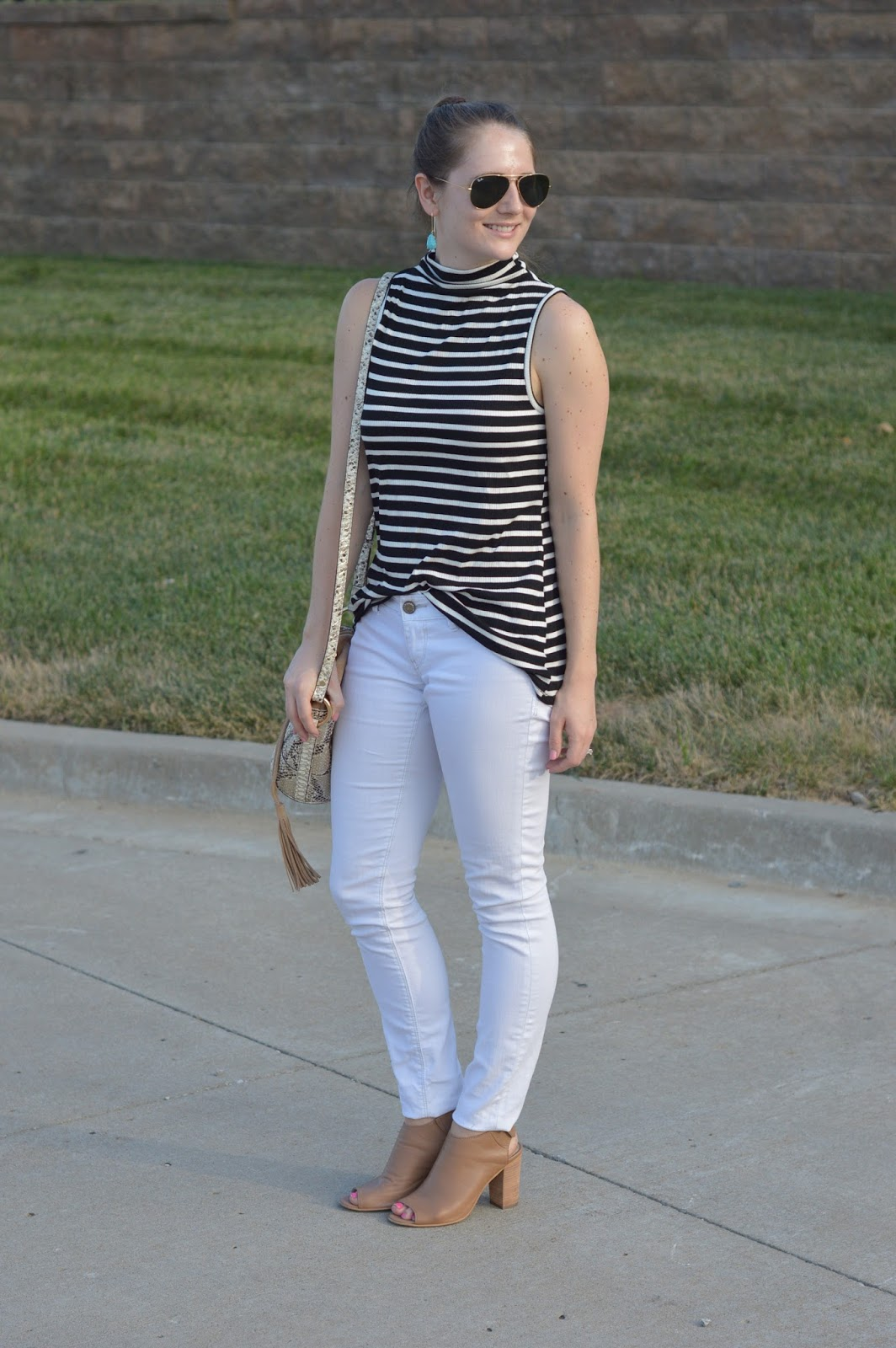 white jeans with a striped top | summer outfit ideas | cute outfit ideas | preppy outfit ideas | striped top with white jeans | a memory of us |