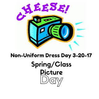 Spring/Class Picture Day March 20th : Non Uniform Dress Day