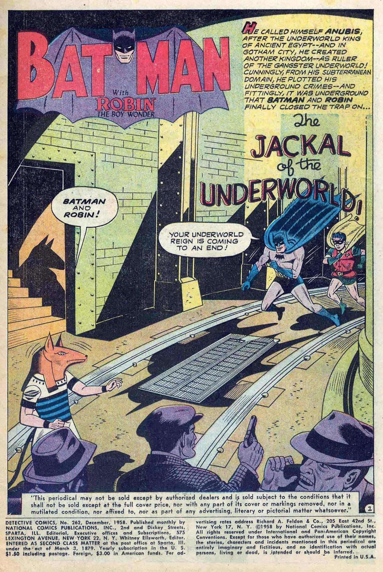 Read online Detective Comics (1937) comic -  Issue #262 - 3