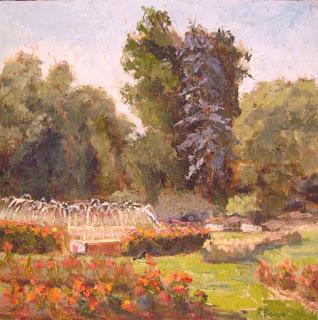 landscape oil painting by Robie Benve