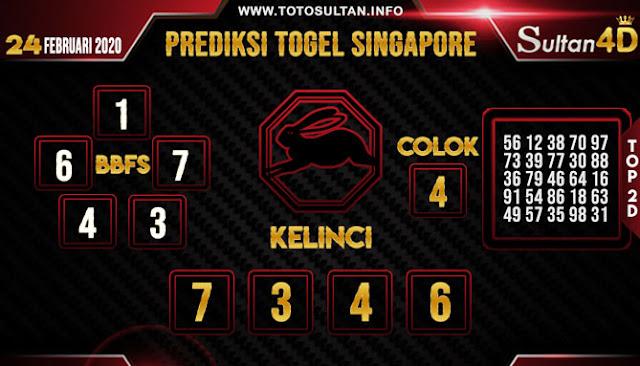 PREDIKSI TOGEL SINGAPORE SULTAN4D 24 FEBRUARI 2020