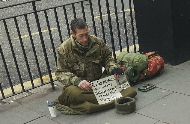 ex serviceman homeless UK