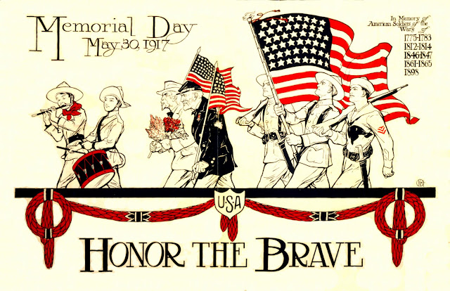 Memorial Day Soldiers on Duty Clipart