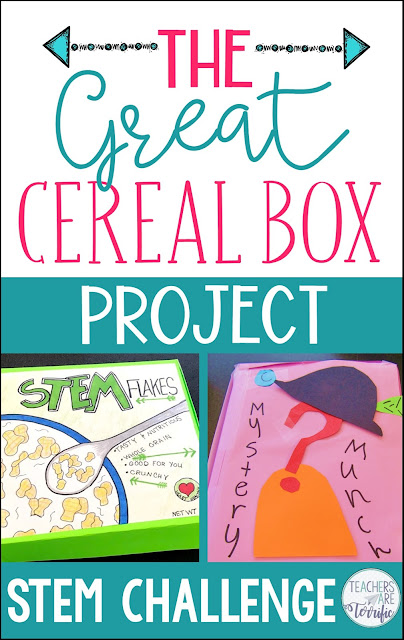 It's the Cereal Box Project! Students learn how to calculate volume and surface area as they design a new cereal box. They explore marketing as they present their final designs! Fabulous STEM multi-day activity!