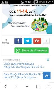 Membuat share button WA keren untuk blogger AMP. Cocok untuk mobile device keren dan menarik.