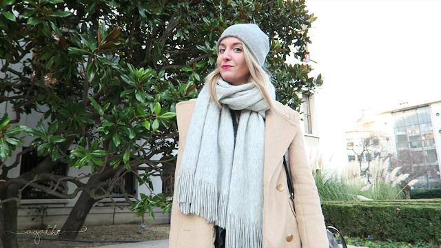 manteau beige stradivairus idée tenue hiver mi-saison agathe diary