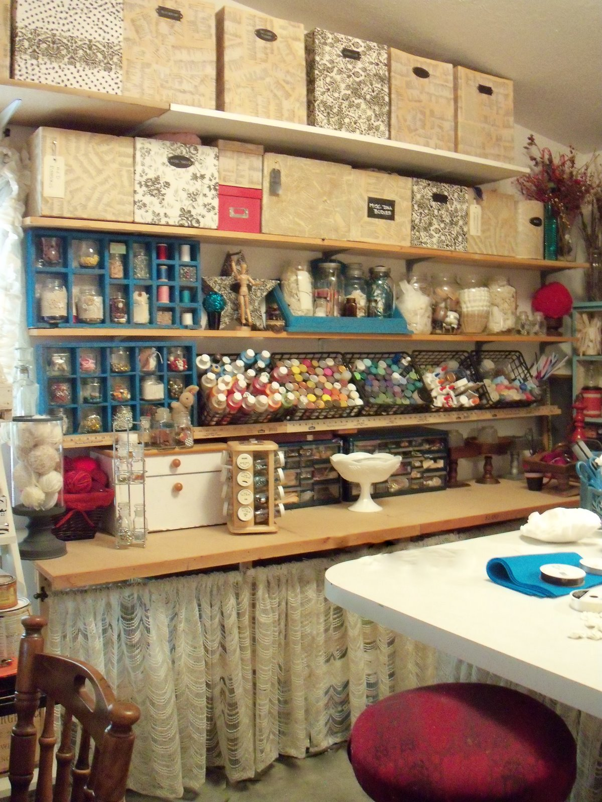 10x10 Room Layout Craft: Make The Best Of Things: Craft Studio Tour-Bottles And