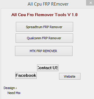 All Cpu Frp Remover Tools V1.0 Free Download