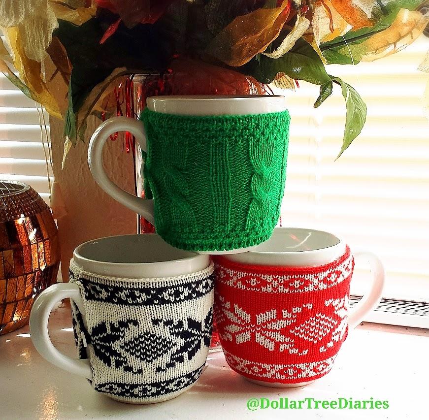 Dollar Tree Diaries: Sweater Cozies & Mug