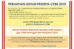 Berita Terbaru! Perhatikan Untuk Peserta UTBK 2019 tentang Syarat Tes UTBK