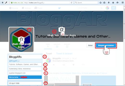 Mengisi Profil Twitter