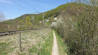 Wanderweg an der Bahnlinie bei Sommerau
