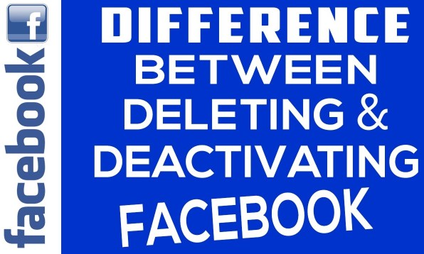 What is the difference between deactivating and deleting facebook account