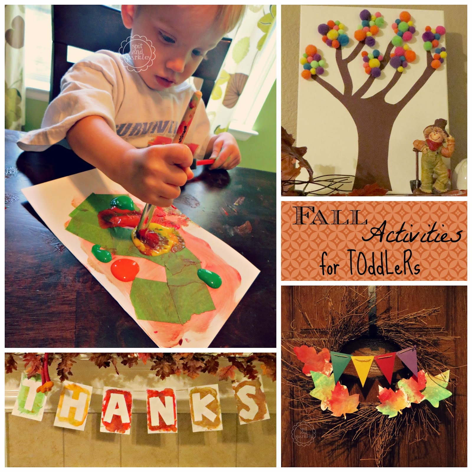 Fun, cheap Fall activities for toddlers. #DIY #kidscrafts #totschool #leaves
