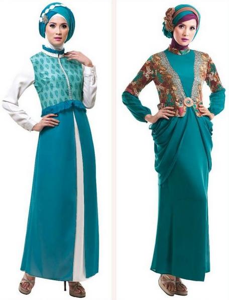 Model baju gamis terbaru batik pesta bahan brokat sifon Baju gamis pesta lazada